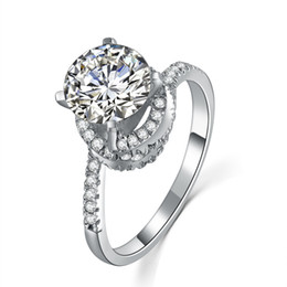 $enCountryForm.capitalKeyWord NZ - Excellent Semi Mounting Twist Arms 2CT Synthetic Diamond Engagement Ring Real Solid Sterling Silver Female Marriage Ring