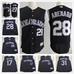 120864ec0 ... mens 28 nolan arenado ireland majestic cool base todd helton 17 sewn  shiny colorado rockies jersey shirt sz 48 cheap ...