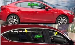 $enCountryForm.capitalKeyWord UK - Stainless Steel Chrome Upper Window Cover Trim Refit For New MAZDA 3 AXELA 2013 2014 4pcs set Car Styling