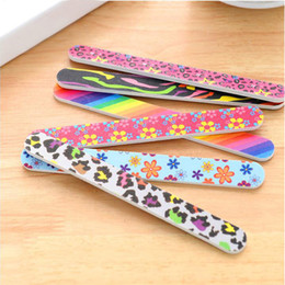 nail filing sticks 2020 - 5pcs lot Nail File Manicure Pedicure Buffer Sanding Files Nail Sandpaper Grit Tool Double Sided Thick Stick Manicure che