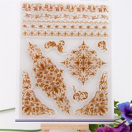 Wholesale Scrapbook DIY Photo Cards Beauty Lace Flowers Clear Stamp Transparent For Wedding Christmas Gift Album CC 105