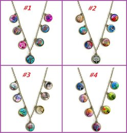 Discount tree pendant for men - 2017 New Vintage Life Tree Pendant Necklaces For Man Women Cabochon Glass Gemstone Necklace Fashion Sweater Chain