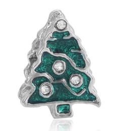 $enCountryForm.capitalKeyWord UK - Fits Pandora Sterling Silver Bracelet Christmas Tree Enamel Beads Charms For Diy European Style Snake Charm Chain Fashion DIY Jewelry