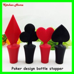 $enCountryForm.capitalKeyWord Canada - Poker Design Wine Stopper Sunflower Wine Bottle Caps 100% Silicone Beer Wine Milk Jam Bottle Stoppers