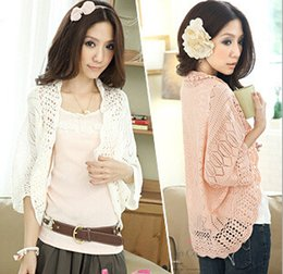 Wholesale-2015 Hot Selling Spring Summer Women s Short Casual Cardigan  Batwing Sleeve Korean Style Women Cute Shrug Top Cardigans 79cc7ee2d