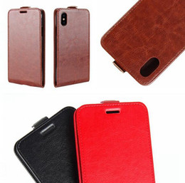 vodafone smart UK - Crazy Horse Flip Leather Pouch Case For Iphone X 8 7 I7 Sony Xperia XZ XZS One plus 5 Vodafone Smart V8 N8 Mad ID Card Photo TPU Cover 50PCS