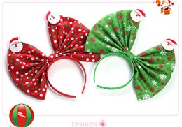 $enCountryForm.capitalKeyWord Canada - 30cm super giant bow hair hoop exaggerated Europe and the United States Santa Claus hair ornaments multicolor optional OEM