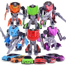 model cannons wholesale Australia - The new robot warrior car variant children toys wholesale model deformation