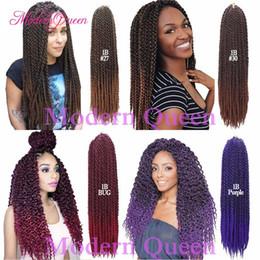 3d Hair Canada - 3D TM Cubic Twist Crochet Braids Afri Naptural TM Split Synthetic Ombre Havana Mambo Senegalese Freetress Braiding Twist Hair Extensions