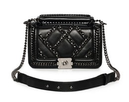 evening bags designer handbag 2019 - New designer Diamond Lattice chain single shoulder messenger handbag lady fashion evening bag black dark blue red color