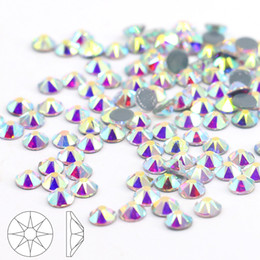 Qualité supérieure HOTFIX Rhinestone 2088 # Crystal AB Flatback 16 Cut Facets Rhinestone rond SS10-SS40 (Crystal Aurore Boreale)