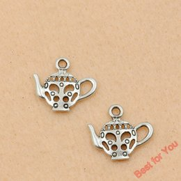 teapot charms Canada - Wholesale-10pcs Tibetan Silver Tone Teapot Charms Fashion Pendants Jewelry Diy Jewelry Findings Craft Charm 21x9mm