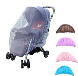 Carrinho de bebê mosquito cama net Pushchair Mosquito Inseto Escudo Net Proteção Malha Buggy Tampa Stroller Acessórios Mosquiteiro KKA2151 venda por atacado
