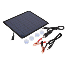 Solar panel for car charger online shopping - Hot V W Solar charger Solar Panel battery Charger For Car Moto Power other V Rechargeable Battery New