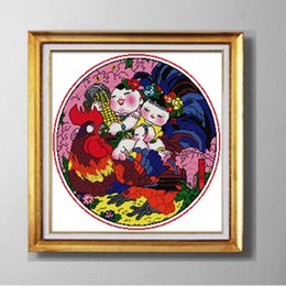 Cross-stitch Home & Garden Monkeys Bring Blessing Decor Painting Counted Print On Canvas Dmc 14ct 11ct Chinese Cross Stitch Needlework Sets Embroidery Kits