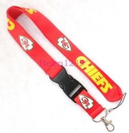 freies Verschiffen ROT Keychain LANYARD Halshandy Bügel Identifikation-Ausweis-Kartenhalter Neu