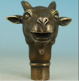 $enCountryForm.capitalKeyWord Canada - ZSR 922+++Asian Chinese Old Bronze Handmade Carved Sheep Collect Statue Walking Stick Head