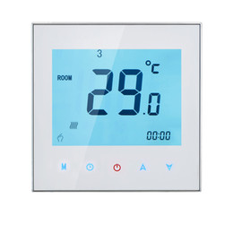 Programmable thermostat heating online shopping - Freeshipping A V Weekly Programmable LCD Display Touch Screen Water Heating Thermostat Room Temperature Controller