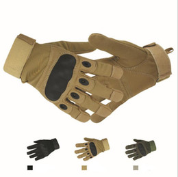 Full Finger Paintball Gloves Canada - Tactical Gloves for Men military Shooting Full Finger Gloves Outdoor Sports Army Paintball Airsoft Carbon Hard Knuckle Gloves