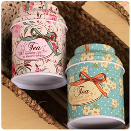 tin boxes wholesale NZ - Free shipping 100pcs lot European Vintage tea tin boxes container wedding event party favor box wholesales
