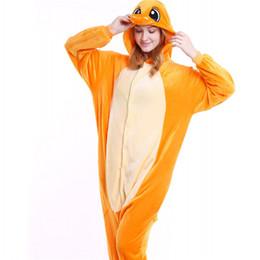 Tiger Woman Costume UK - Wholesale Orange Dinosaur Onesies Women Pajamas  Set Unisex Men Cosplay Costume fb8510424