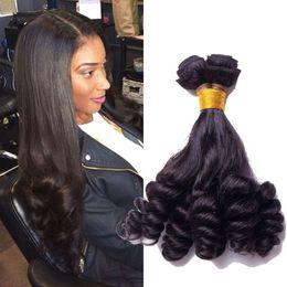 black hair perm curly 2019 - Top quality 100% real Mongolian human hair funmi curly natural black bouncy curly hair weaving 100g sunnygrace cheap bla
