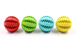 Discount lighted dog ball - New Pet Dog Toy Rubber Ball Toy Funning Light Green ABS Pet Toys Ball Dog Chew Toys Tooth Cleaning Balls of Food 4.8cm