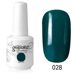 Tremper Le Gel De Couleur Poli Pas Cher-Vente en gros- Couleur vert foncé 15ML Vernis à ongles UV Gel de surface brillant Vernis à ongles Nails Art Salon LED Soak Off Long Lasting Gel Nail Art