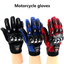 $enCountryForm.capitalKeyWord Canada - Motorcycle Gloves 2017 Antmanunion Moto Racing Gloves Stainless Steel Iron Full Finger Protective Gloves Black Blue Red Color M L XL Size