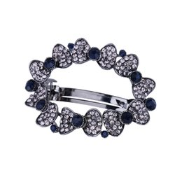 Chinese  New Arrival Black Crystal Hair Clip Barrettes Rhinestone Womens Hair Jewelry Vintage Fashion Barrette Wedding Bridal Hair Accessories manufacturers