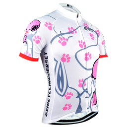 China BXIO Brand Cycling Jersey Women Short Sleeve Sport Jersey Summer Cool Snoopy Bike Clothing Pro Team Equipe De France BX-0209W021-J cheap bx sports suppliers