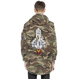 $enCountryForm.capitalKeyWord Canada - Rocket Camouflage men Overcoat Hooded embroided Jacket A W latest Camo Hip-hop Oversized Trench Military Jacket Baggy Coat