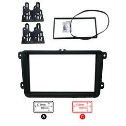 $enCountryForm.capitalKeyWord Canada - LEEWA Car DVD CD Radio Stereo Fascia Panel Frame Adaptor Fitting Kit For Volkswagen Passat Touran Jetta Golf Caddy EOS FOX SKU#:4407