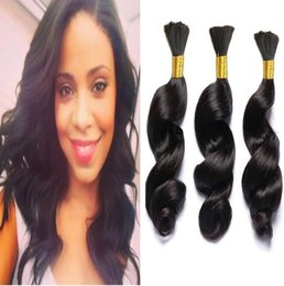 $enCountryForm.capitalKeyWord NZ - Brazilian Human Hair Afro Loose Wave Bulk For Braiding 3Pcs Lot 100g Loose Wave Bulk Hair Extensions from Huihao_hairs