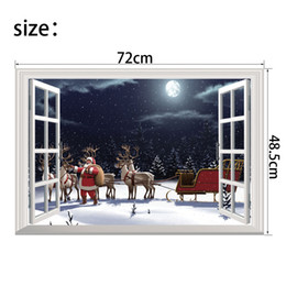 $enCountryForm.capitalKeyWord Canada - New Christmas Wall Stickers Santa Claus Gift Festival Murals Wallpaper for Home Decoration 10 Kinds of Styles Optional Free Shipping