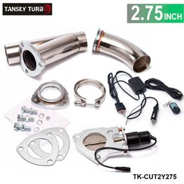 """$enCountryForm.capitalKeyWord NZ - TANSKY - exhaust cutout 2.75"""" E-cutout W Switch  Remote  Switch+Remote Downpipe Cut out Valve System Kit"""