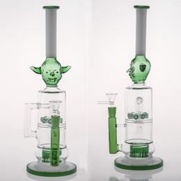 Discount glass cone piece - New Design Goblin Glass Bong Cone Piece Double Layers Smoking Pipe 8 Percolato Good Diffusion Smoking Banger Recycler Oi