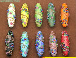 colour wire NZ - Exquisite workmanship Long Dangle Charms Handmade DIY Coloured glaze Solid Coil Gold Wire Tree Pendants Accessories 10colors can choose
