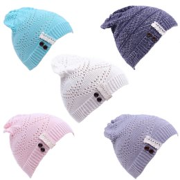 $enCountryForm.capitalKeyWord Canada - Women Knitted Beanie Hat Lace brim Button Warm Hats Beret Hedging Cap Winter Hat