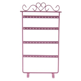 China Brilliant quality 48 Holes Display Rack Metal Stand Holder Closet Jewelry Organizers Showcase Display Tool 5CCG suppliers