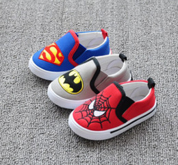 Chaussures À Glissière En Toile Pour Fille Pas Cher-Baby Girls First Walker Chaussures Kids Boys Spider Man et Smiley Chaussures Enfants Soft Bottom Anti-Slip Chaussures Toddler Spring Footwear 1-4T