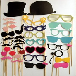 Mustache Birthday Party Decorations Australia - Actionclub Wedding Decoration 58Pcs Lot DIY Mask Photo Booth Props Mustache On A Stick Birthday Event Party Supplies Decoration