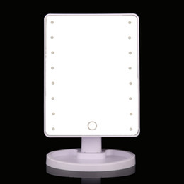 Hot Large LED Mirror 16 LED Touch Screen Makeup Mirror Vanity Mirror Lights  Health Beauty Adjustable Countertop 360 Rotating Makeup ToolDiscount Lighted Vanity Mirrors Makeup   2017 Lighted Vanity  . Large Lighted Vanity Mirror. Home Design Ideas