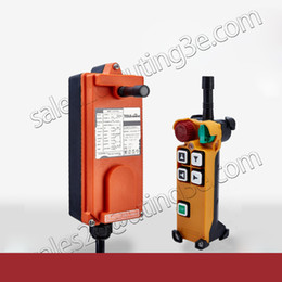 Discount industrial cranes - Wholesale- Telecontrol F21-4D industrial radio remote control AC DC universal wireless control for crane 1transmitter an