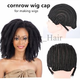 $enCountryForm.capitalKeyWord NZ - Black Crochet Synthetic Braids Wig Cap For Making Wigs With Small Combs Glueless Weaving Wig Lace Caps