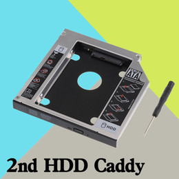 laptop ata 2019 - Wholesale- 9.5mm Universal Serial ATA 2nd HDD SSD hard disk drive caddy bay adapter For Lenovo IdeaPad Z500 Z500t Z510 Z