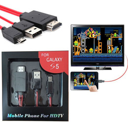 Micro USB HDMI Câble Adaptateur Pour HDTV pour Samsung Galaxy S5 S4 S3 Note2 Note3 Galaxy Tab 3 S Pro