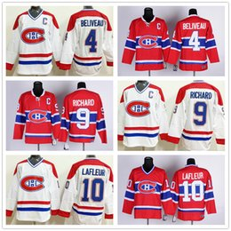 13b358f2052 ... Throwback Jerseys Ice Hockey 4 Jean Beliveau Jersey Red White 10 Guy  Lafleur Youth Montreal Canadiens Throwback 4 Jean Beliveau 9 Maurice Richard  ...