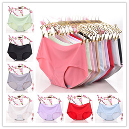 Sous-vêtements En Coton Pur Pas Cher-12 Solid Color 2017 Hot Women Ladies Underwear Panties Girls panty Femmes Sexy Lingerie Pure Cotton Meryl Lingerie Mix Couleur Livraison gratuite