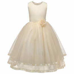 Chinese  Children Clothing Girl Kids Clothes Lace Flower Girls Dress For Wedding Events Party Baby Girl Birthday Dress Frocks Ceremonies manufacturers